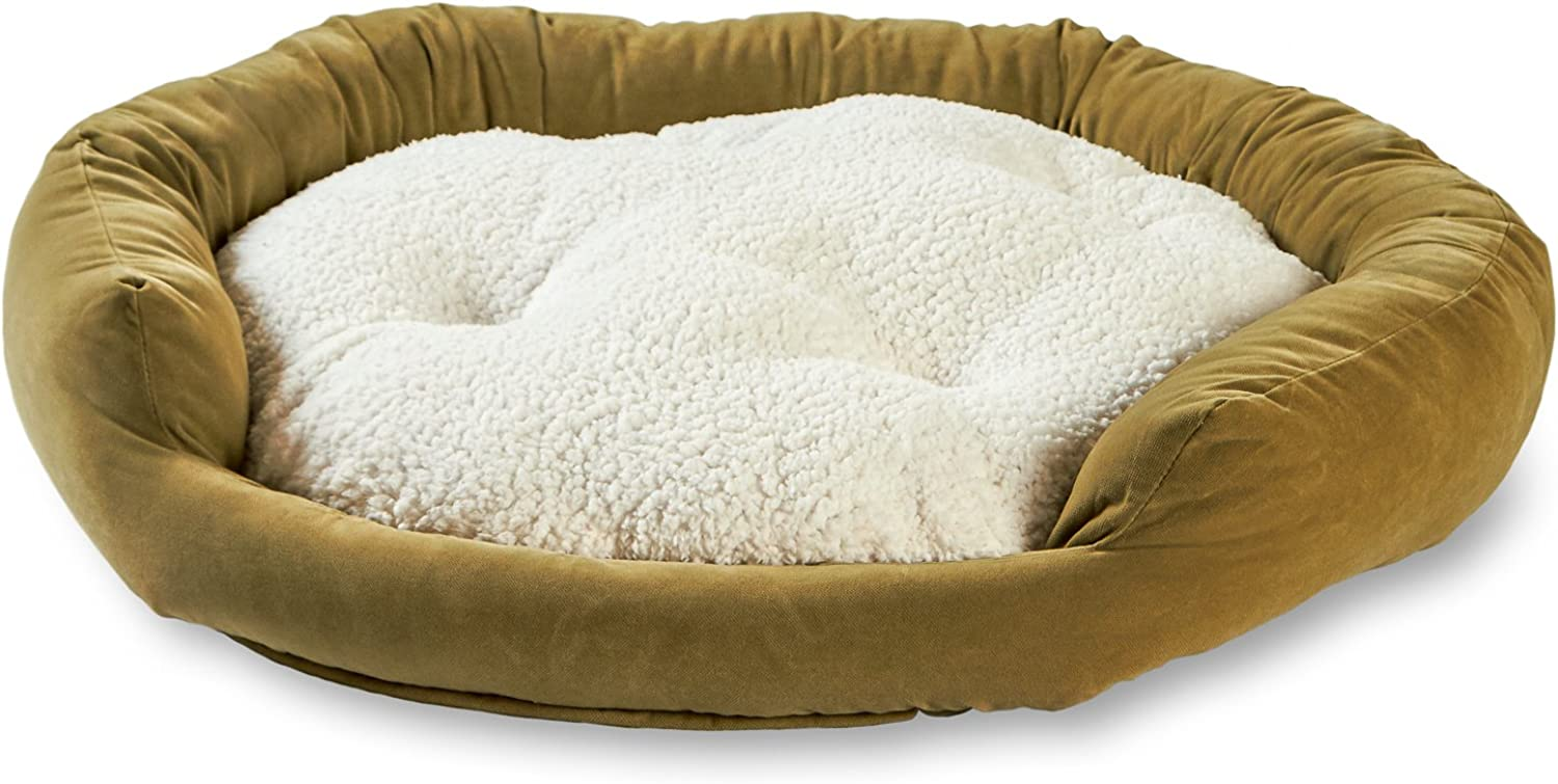 Happy Hounds Murphy Donut Medium 32Inch Dog Bed, Moss