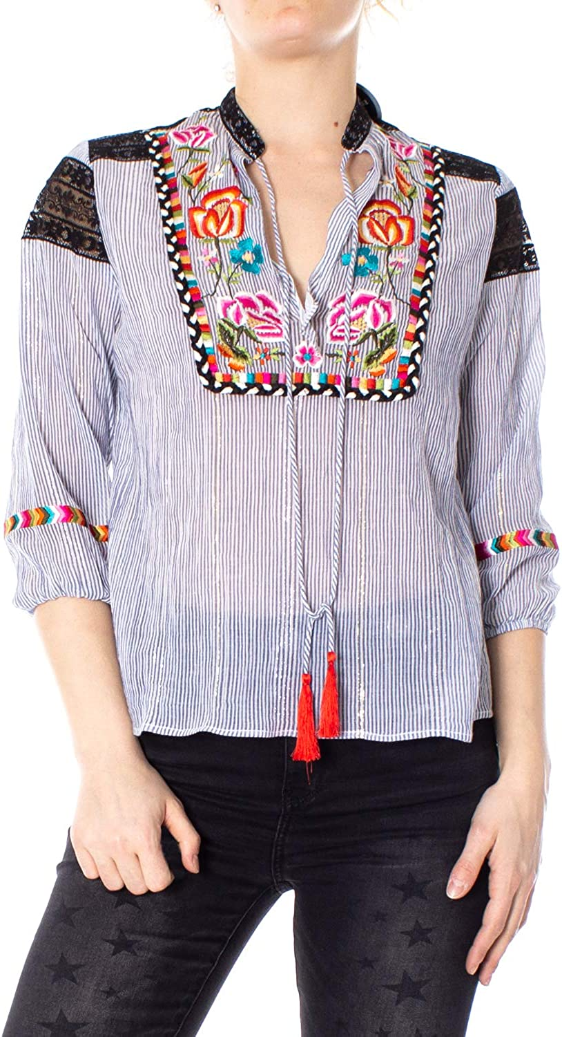Desigual Blouse Woman blues Marina 19SWBW28