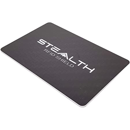 Stealth Shield RFID Blocking Card - Maximum Strength RF/NFC Blocker Device for Bank Credit Card & Identity Protection - Wallet Security Against Illegal Contactless Credit Card Scanning (Black)