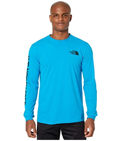 The North Face Long Sleeve Brand Proud Cotton Tee (Acoustic Blue) Men