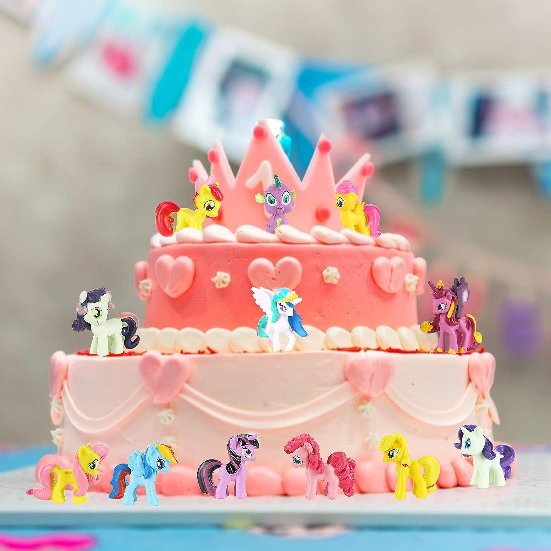 Colmanda 12 Piezas Cake Topper Unicornio Fiesta Decoraci/ón De Pastel De Unicornio Decoracion Tarta Unicornio Cumplea/ños Festival Decoraci/ón para Mujer ni/ña cumplea/ños Fiesta 2