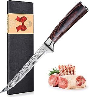 UniqueFire 8'' Couteaux de Chef et 7'' Santoku Couteaux de Cuisine, 7CR17 Allemand Acier Inoxydable, Anti-ternissement et ...
