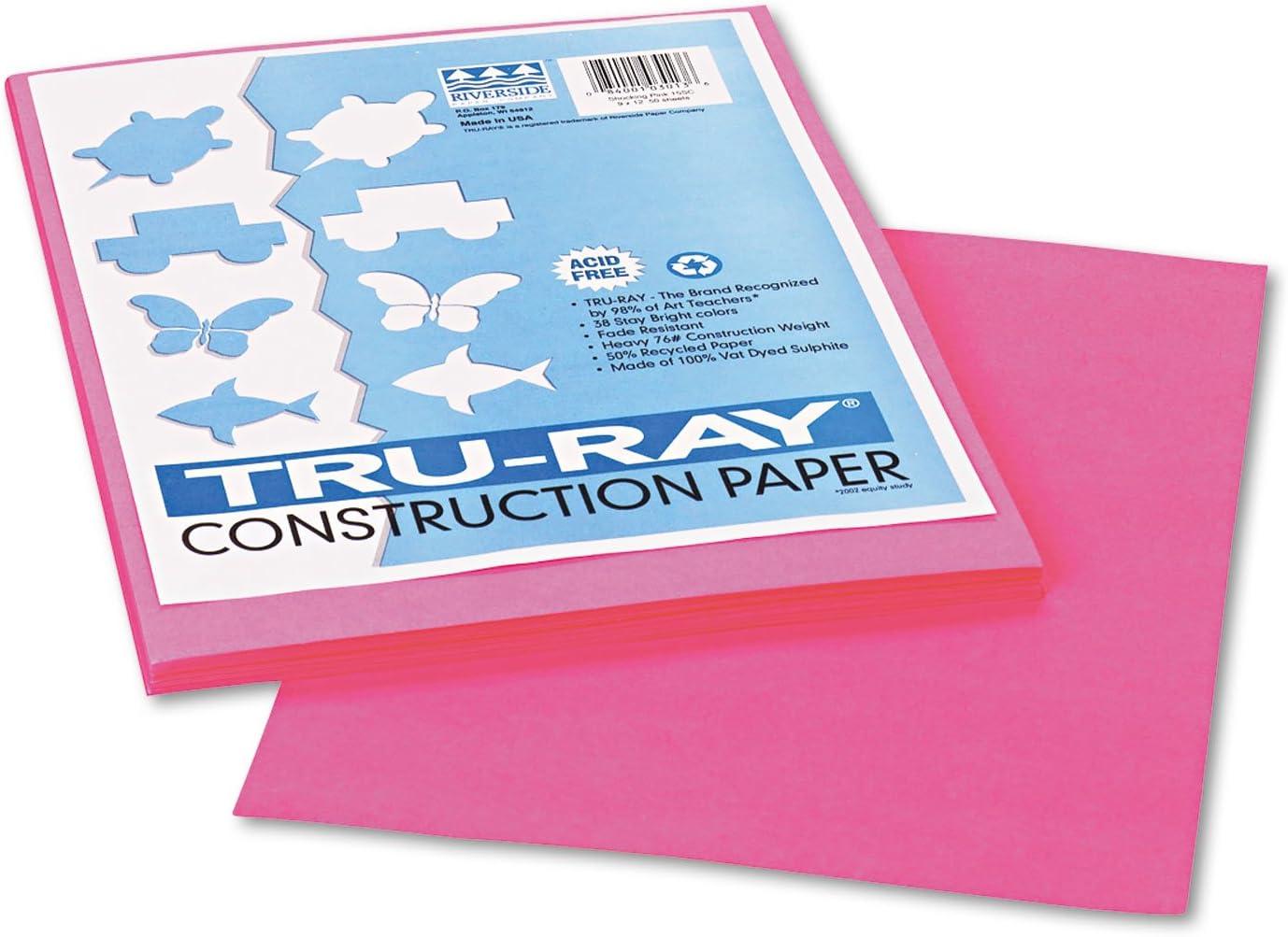 Pacon 103013 Tru-Ray Construction Paper 76 Brand Cheap Sale Venue Shockin lbs 12 9 x Ranking TOP16