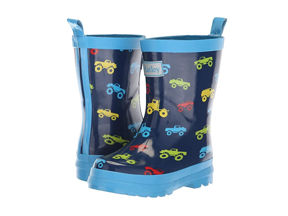 Hatley Kids Limited Edition Rain Boots (Toddler/Little Kid) (Colourful Monster Trucks Navy/Blue) Boys Shoes