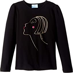 Long Sleeve Face Printed T-Shirt (Little Kids/Big Kids)