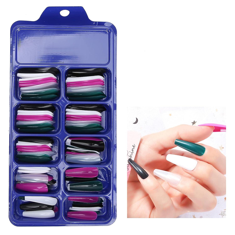 100Pcs Extra Long Popular popular Matte Nails Solid Color False Full Cover Kansas City Mall Nail