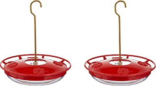 Aspects HummZinger Highview Hanging Hummingbird Feeder - 429, Red,12 oz (Pack of 2)