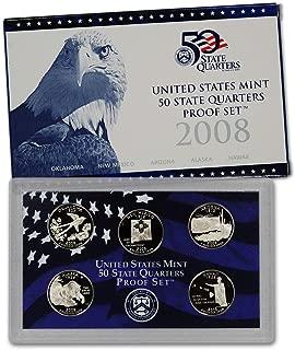 2008 S U.S. Mint Proof State Quarter Set - 5 Coins - OGP Original Government Packaging Superb Gem Uncirculated