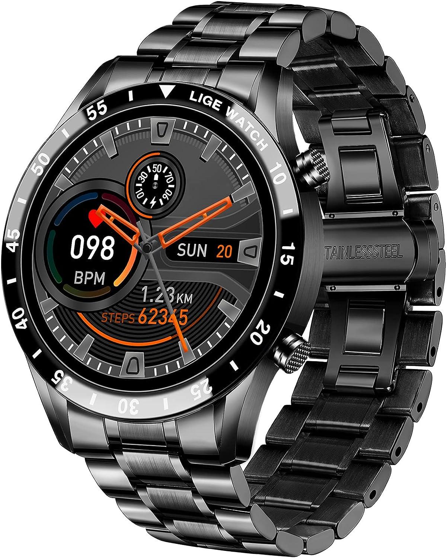 LIGE Smartwatch Herren, 1,3″ Zoll Touchscreen Telefon Uhr Männer Smartwatch mit Herzfrequenz Schlafmonitor Aktivitäts Tracker IP67 wasserdichte…