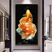 5D DIY Diamond Painting Rhinestone Koi Fish Diamond Painting Kit Crystal Painting DIY Mosaic Picture Handmade Craft Home D...