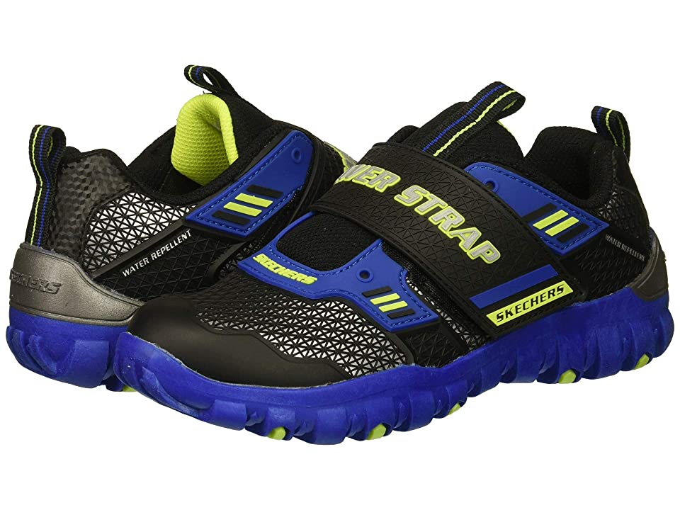 SKECHERS KIDS Pulverizer 97870L (Little Kid/Big Kid) (Blue/Black/Lime) Boy
