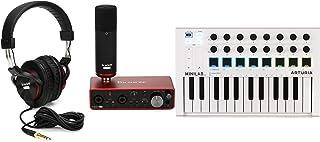 Arturia MiniLab MkII 25 Slim-key Controller + Focusrite Scarlett 2i2 Studio 3rd Gen Recording Bundle Value Bundle