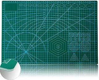 カッターマット A3 両面カッティングマット PVC カッティングマット 5層シート構造 両面印刷 傷自動癒合機能 300×450×3mm グリーン