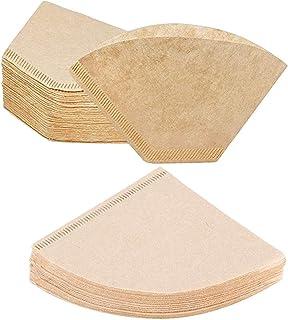 200 Pièces Filtres À Café Coniques En Papier, Papier Filtre À Café Papiers Unbleached Original Filtres À Papier Jetables F...