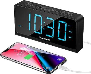 """Réveil Numérique, écran LED 7"""", Horloge Digitale de Bureau pour Enfant et Personnes âgées, 12/24 H, 5 Niveaux de Luminosit..."""