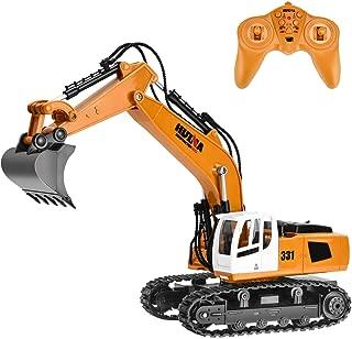 Rainbrace Remote Control Construction Toy RC Construction Vehicle RC Excavator Remote Control Excavator Toy RC Tractor RC Truck for Kids Remote Control Truck for Boy Toys 5 16 Years Old Boys Gift
