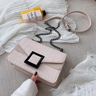 Stone Grain PU Leather Messenger Bag Women Simple Handbag Women Luxury Chain Handbag