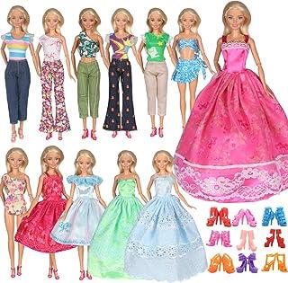 Tanosy 5 PCS Doll Dresses 5 Tops 5 Pants Outfits 2...