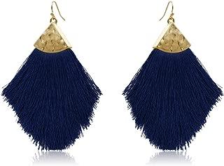 Best navy blue tassel earrings Reviews