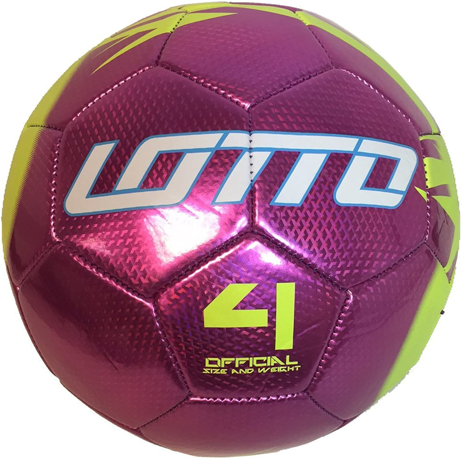 Lotto Girls Stadio Soccer Ball, Forza Pink Volt, Size 4