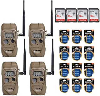 Cuddeback CuddeLink Wireless Long Range IR Game Trail Cameras - Ready to Use Bundle