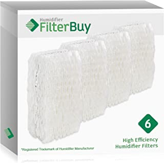FilterBuy Replacement Humidifier Wick Filters Compatible with WF813 ReliOn, AC-813 Duracraft, ACR-832 Robitussin. Pack of 6.