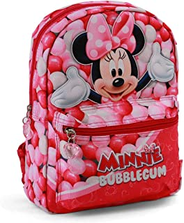 Minnie Mouse Bubblegum Mochila infantil reversible, 31 cm, Rosa