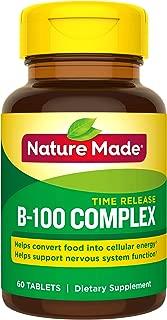 Nature Made Balanced B-100 Timed Release (Thiamin, Riboflavin, Niacin, B6, B12, Biotin, Pantothenic Acid & Folic Acid) Tablets 3 Pack