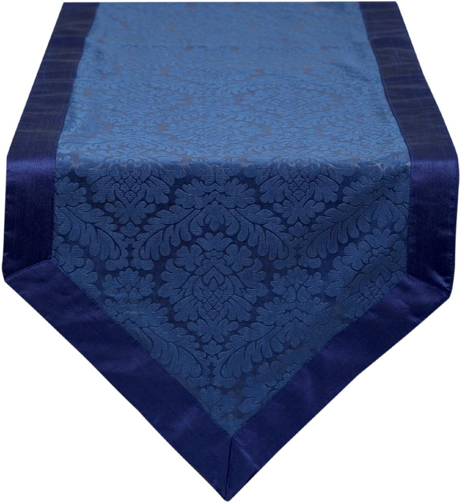 The White Petals OFFicial site Table Runner Handmade Blue 14x120 Unique inch Luxury