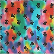 LoveBea Placemats Colorful Paw Dog Square Placemats for Dining Table Kids Table Mat 1 Piece
