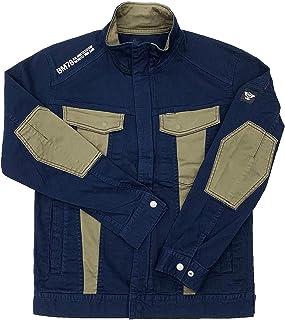 [BMC ブルーモンスタークロージング] ジャケット メンズ 作業服 作業用 ストレッチ チノ素材 ライダース ブルゾン クレイジーグリーン