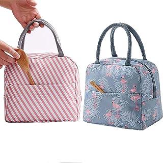 comprar comparacion GCOA 2PCS Bolsa Térmica Almuerzo Impermeable Fiambrera Isotermica,Lunch Bag con bolsillo trasero,Para hombres, mujeres y n...