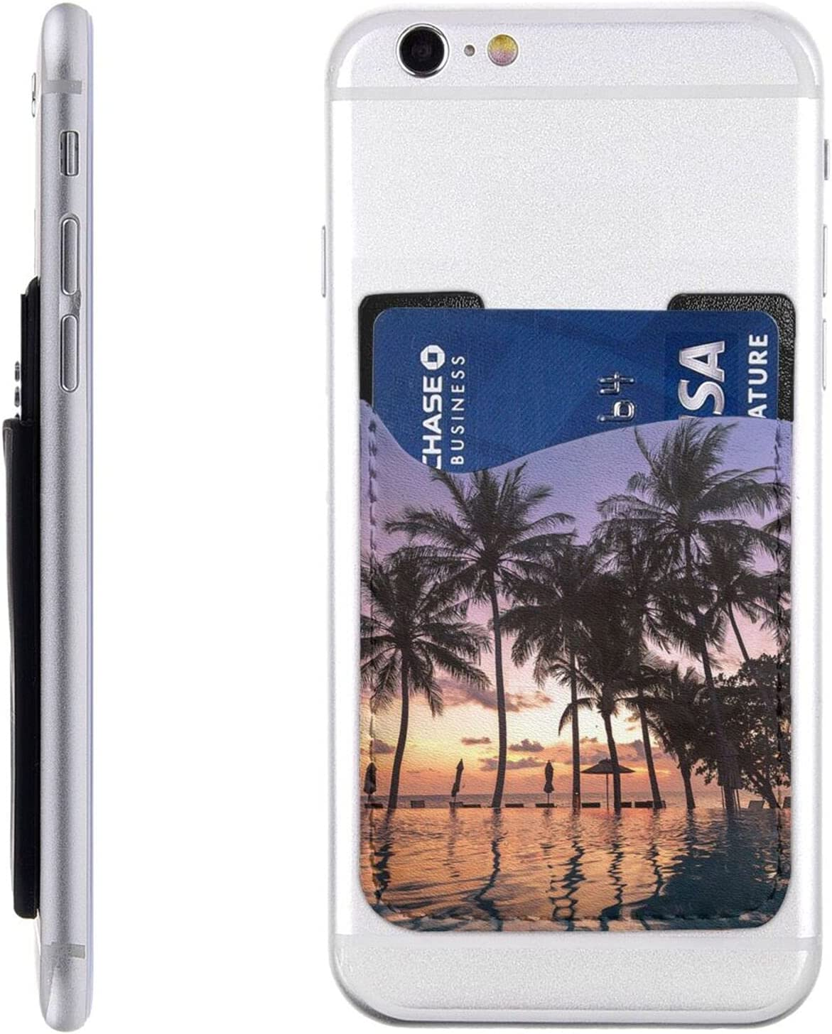 High quality new Palm Tree Phone Baltimore Mall Card Holder On Cell Stick Slee Wallet