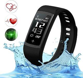 Reloj inteligente con monitor de ritmo cardíaco, presión arterial y actividad de Top-Max, impermeable, IP67, con podómetro, contador de calorías, inalámbrico, para teléfonos Android e iOS