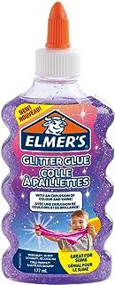 Elmer's Glitter Glue, Purple, Washable & Child Friendly, 177 mL - Great for Making Slime