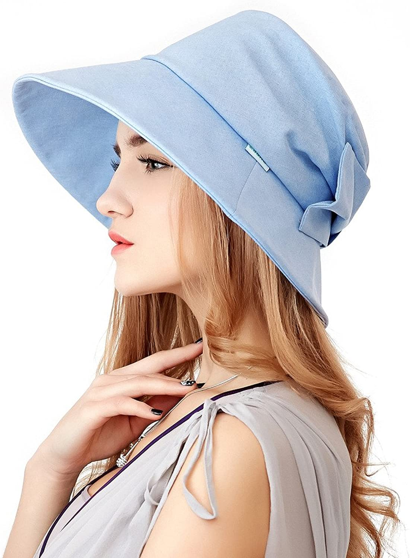 Home Prefer Womens Sun Hat UPF50+ Beach Hat Foldable Light Weight Sun Predective