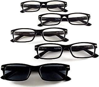 "SightPros Reading Glasses - ""Cheaters"" - Set of 5 Readers for men and women in bulk"
