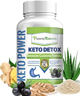 PbyN - Keto Detox Cleanse Weight Loss - Advanced Colon Cleanser, 1532 Mg Natural Cleansing Supplement for Digestion, Gas, Bloating Relief and Regularity, Control Appetite - Safe, Gentle 60 Keto Pills