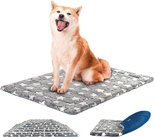 KROSER Almohadilla para Perros Colchoneta Reversible Colchón para Mascotas Elegante 91 cm Almohadilla de Esponja de A...