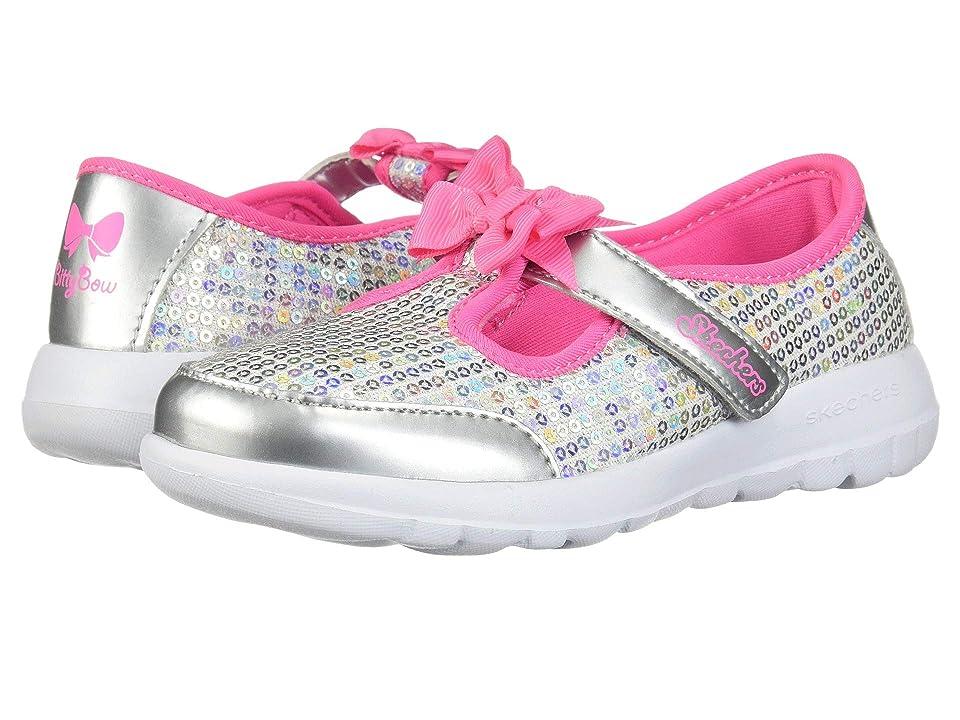 SKECHERS KIDS Go Walk Joy Sugary Sweet 81180N (Infant/Toddler/Little Kid) (Silver/Multi) Girl