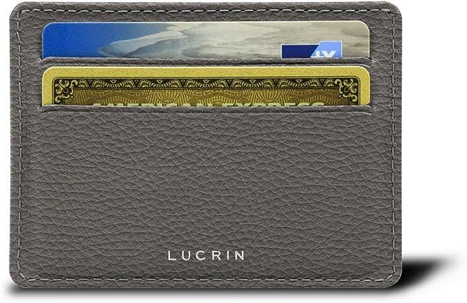 und Visitenkartenetui Kreditkarten Leder genarbt Lucrin