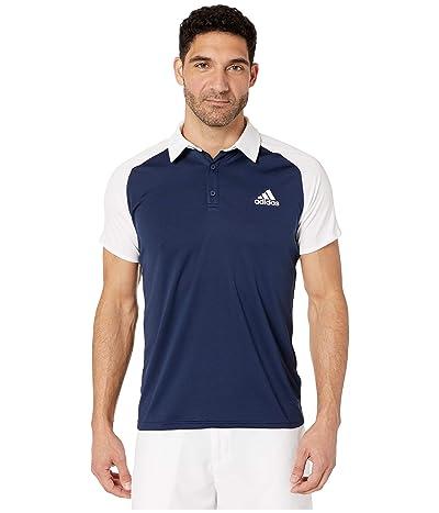 adidas Club Colorblock Polo (Collegiate Navy/White) Men