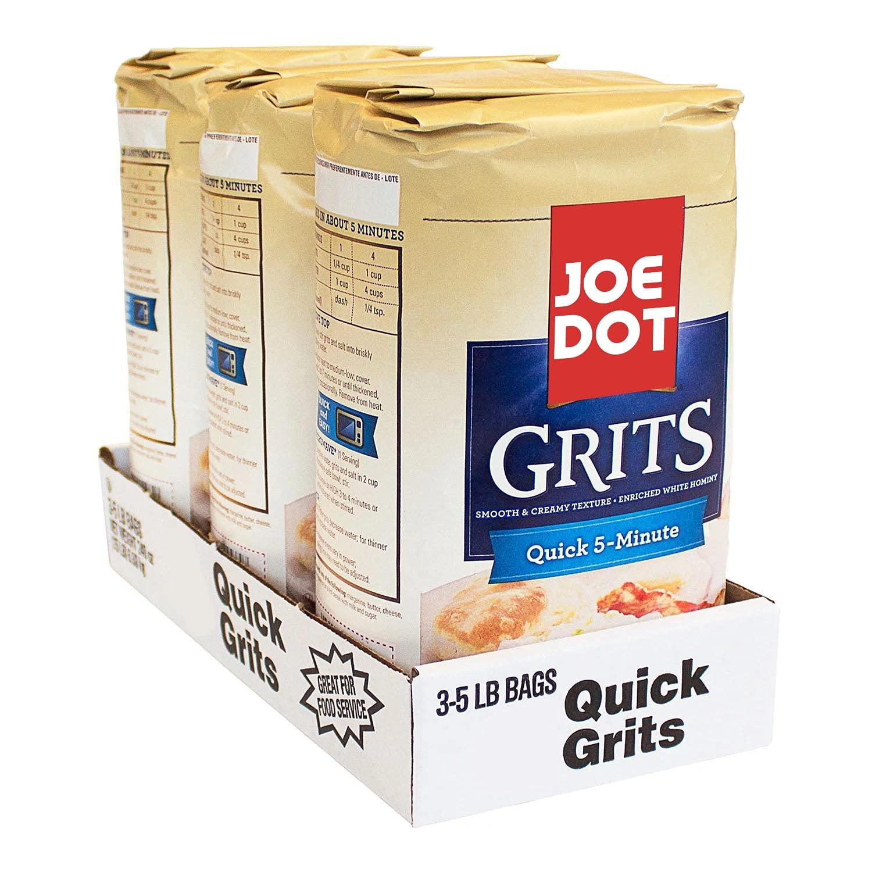 Cheap mail order sales JOEDOT Brand Cheap Sale Venue Quick 5-Minute Grits lb. 5 3 pk.