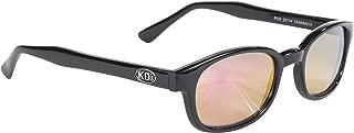 Pacific Coast Original KD's Biker Sunglasses (Black Frame/Clear Colored Mirror Lens)
