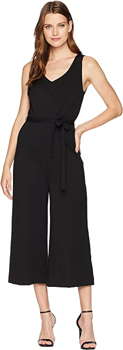 Ponte Sleeveless Jumpsuit