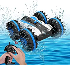 Toys for 5-10 Year Old Boys Amphibious RC Car for Kids 2.4 GHz Remote Control Boat..