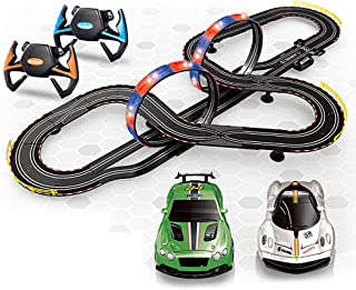 Electric Track Racing Digital Slot Car Racing Set of with 7 m Tracks and 2 Cars Large Parent-Child Interactive Toy Boy and...