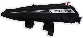 ZONE3 Aero Top Tube cykelväska/Triathlon 'Bento Box' svart/silver, en storlek