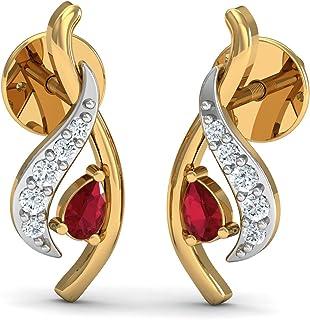 0a61ca30a Dishis Designer Jewellery 14k (585) Yellow Gold, Diamond and Garnet Gold,  Diamond