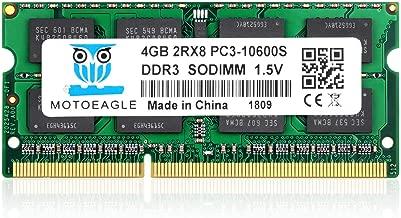 2Rx8 PC3 10600S 4GB DDR3 1333 MHz, Motoeagle PC3-10600 SODIMM 1.35V 204-pin Laptop Memory